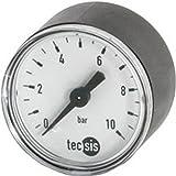 Manomètre, central arrière, Ø nominal : 63 mm, Raccord G 1/4 pouces, Plage d'affichage 0-10 bar