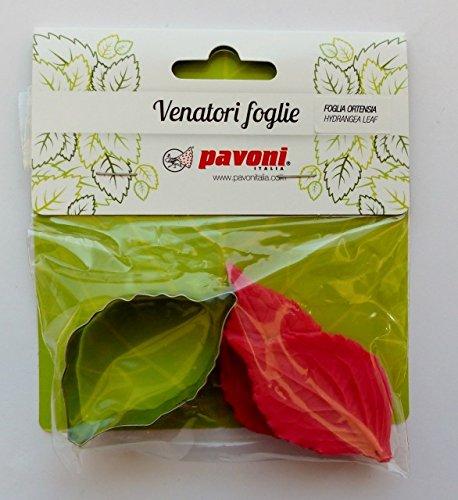 Silikonstempel &emporte-pièces en silicone avec poussoirs-hortensia feuilles