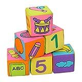 Tenflyer Nuevo infantil del bebé del paño suave traqueteo Bloques de construcción juguetes educativos del bebé de juguete Bloques suaves Conjunto Cubo