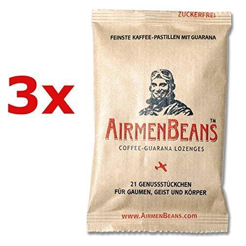 Preisvergleich Produktbild AirmenBeans Airmen Beans Kaffee Pastillen mit Guarana 63 Stück,  3xDE1001