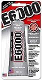 Eclectic E6000 Industriekleber, 59,1ml Tube, hitzebeständiger wasserfester Kleber, dunkler Alleskleber für Metall, Kunststoff, Leder, Holz, Deko, Porzellan, Schmuck etc., flüssiger Klebstoff schwarz
