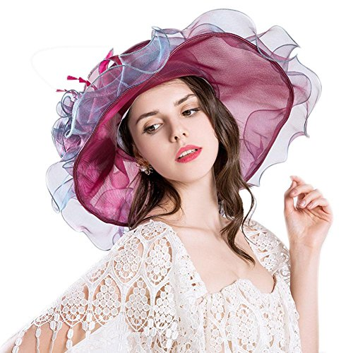 COMFOTAM Comfot Women's Polyester Straw Bucket Hat Sun Hat, Cute Casual Spring Summer Brown Blushing Pink Purple Yellow Wine
