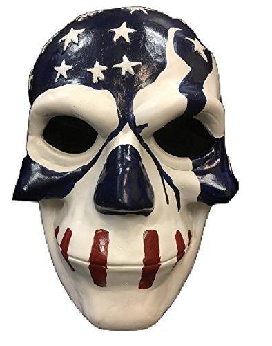 The Purge Maske Film Wahl Jahr 3' USA Flagge' Deluxe Glasfaser Maske - universell Größe mit verstellbar (Säuberung Film Die Maske)