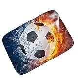 Wddwymll Fußball Druck Teppiche Für Wohnzimmer Schlafzimmer fußball Baseball Sport Tür Matte Badezimmer küche wasseraufnahme Rutschfeste Teppich - 40 cm x 60 cm, 1