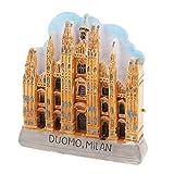 F Fityle Mini 3D Modelo de Recuerdo de Milan/Venecia Diseño de Imanes para Refrigerador Artesanías Domésticas - Catedral de Milán