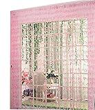 Koala Superstore Willow Linie Tür Schnur-Vorhang-Fenster-Panel Paravent Streifenvorhang, Rosa