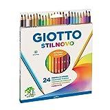 Giotto Stilnovo 24Pastels à bûches avec étiquette avec le nom
