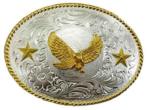 Nocona Glossy Eagle Gürtelschnalle Western Buckle Cowboy USA (Nocona Cowboy Gürtel)