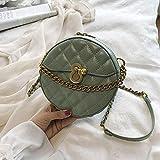HLYMX frauen Runde Crossbody Taschen Für Frauen Luxus Leder Handtaschen Designer Damen Schulter...