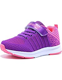 Zapatillas de Deporte Niños Niña Transpirables Aire Libre Calzado Deportivo Cierre de Velcros Antideslizante Zapatos de Correr