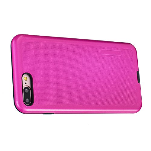 Voguecase® Pour iPhone 7 Plus 5,5, [TPU+PC]Coque de protection double couche pour Apple iPhone 7 Plus 5,5 [Technologie Air Space Cushion] Absorption des chocs améliorée, Ajustement Parfait Coque Shell Modèle de point-Rose