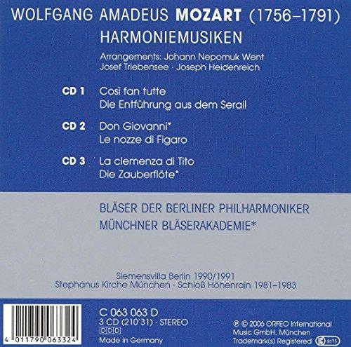 Mozart : Musique pour ensemble d'harmonie. Münchner Bläserakademie.