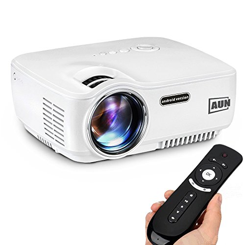 AUN 1400 Lúmenes Android Proyector, con WiFi Bluetooth LED Proyector, Para cine...