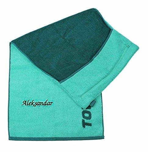 Towell | Towel Plus Fitness Handtuch grün mit Namen oder Wunschtext Bestickt