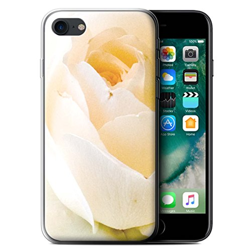 Stuff4 Gel TPU Hülle / Case für Apple iPhone 8 / Sonnenblumen Muster / Blumengarten Blumen Kollektion Zarte Rose