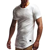 Aberimy T-Shirt Herren Kurzarm Freizeit Shirt Trainings Passform Eignungs Sport Turnhalle Militärische Tarnung Hemd Bluse O-Neck Muscle T Shirt Mode Männer Sommer Tops Oberteile Kurzarmshirt Tee