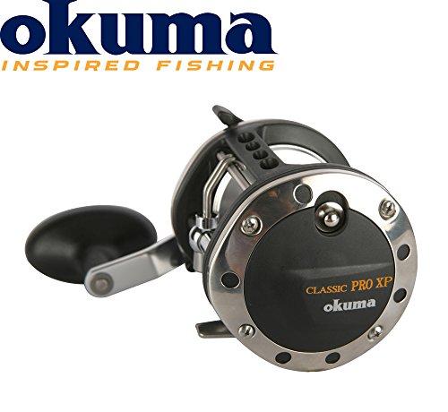 Okuma Classic XP Pro - XP452La Multirolle, Schnurfassung 450m 0,45mm, Meeresrolle, Angelrolle für Norwegen, Island, gelbes Riff