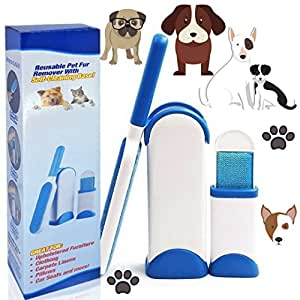 pet hair remover brosse de nettoyage magique r utilisable pour enlever les poils d 39 animaux de. Black Bedroom Furniture Sets. Home Design Ideas