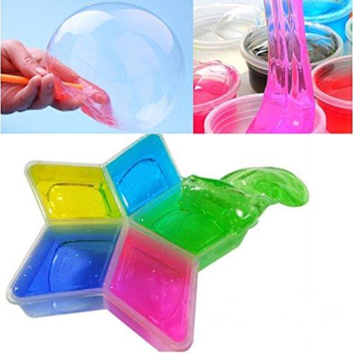 Preisvergleich Produktbild Plasticine Schleim Kleinkinder Spielzeug, ESAILQ 5 PC /Los bunter Lehm Schlamm DIY ungiftiger Kristallschlamm Spiel transparente magische Plasticine Kind Spielwaren