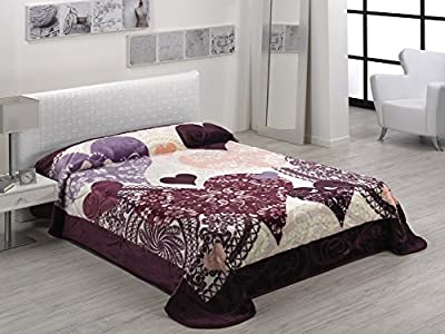 Mora - Manta para cama extragrande (220 x 240cm, color morado