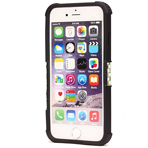 iPhone 6 / 6s Coque, Urcover Housse [Look Tissu] Étui Apple iPhone 6 / 6s Bumper Caoutchouc Antichoc Variant 7 Cover Case Variant 6