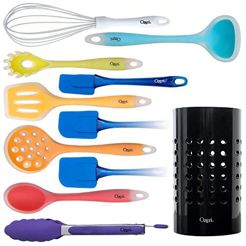 Set Ozeri di utensili in silicone tutto in uno da 11 pezzi, Multicolore