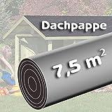 Bitumen - Dachpappe 7,5 m² schwarz besandet für Spielhaus von Gartenpirat