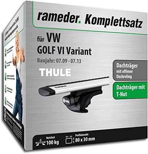 Rameder Komplettsatz, Dachträger WingBar für VW GOLF VI Variant (114406-08442-1)