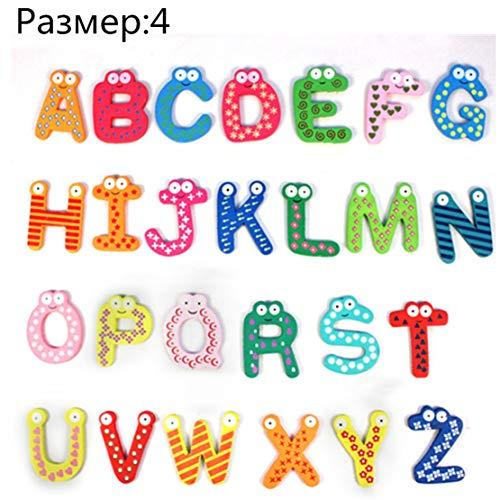 Happy Event 26 Bunte Buchstaben   Cartoon Holz Kühlschrankmagnet Cartoon   Kind Baby pädagogisches Spielzeug