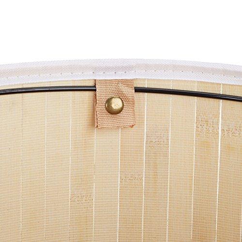 Relaxdays Wäschekorb Bambus rund, faltbar, 80L, 41x65cm - 6