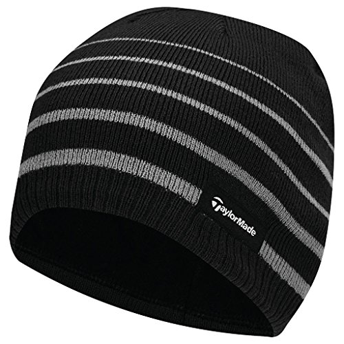 taylormade-2017-thermal-fleece-stripe-beanie-knitted-mens-golf-hat-black