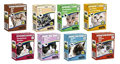 48 x 370g Bozita Katzenfutter in Gelee oder Sauce - Mixpaket