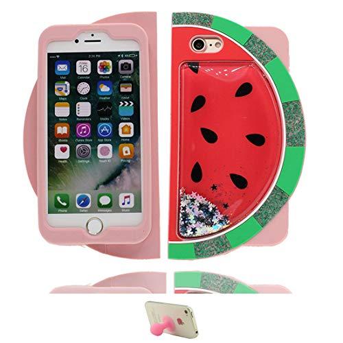 PU-Hülle für iPhone 7,3D Wassermelone Cartoon Design Weiche Silikon-TPU-Schutzhülle, Flexible Schutzhülle für iPhone 7 4.7