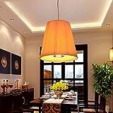 GZLOFT Vintage Pendelleuchte Deckenleuchte Hänge lampe Kronleuchtern Sepia Restaurant Stoffen Gang Einrichtung klicken Sie auf Kopf 35×35 cm