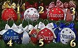 Crociedelizie, offerta set da 5 palline di Natale personalizzate 8 cm nome ricamato decorazione natalizia personalizzabile scegli tu i modelli