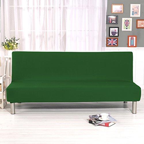 Copridivano per divano senza braccioli, in tessuto elasticizzato, per protezione da peli di animali domestici, con stampa floreale, colore puro, green, 160cm-195cm