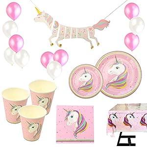VARIOUS Vajilla Desechable Cumpleaños Unicornio