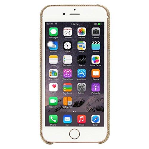 JING Pour iPhone 6 Plus / 6s Plus, étui de protection en tissu de poche jeans avec slot pour carte ( Color : Dark Blue ) Gold