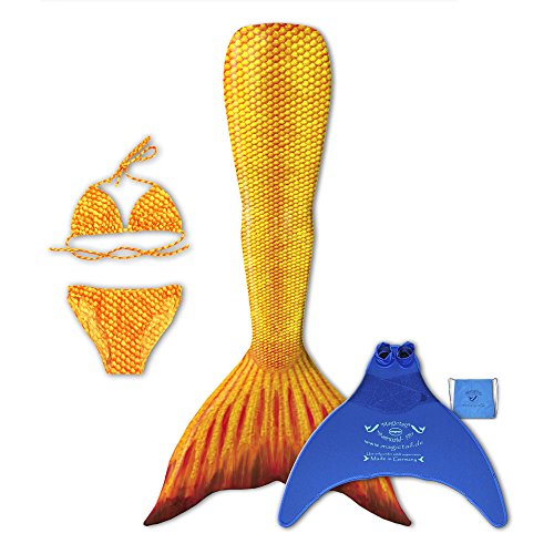 magictail Original Meerjungfrauenflossen zum Schwimmen für Kinder und Erwachsene mit Kostüm, Bikini, Flosse und Tasche H2O S