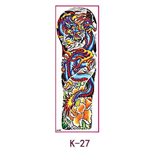 tzxdbh Autoadesivo del Tatuaggio del Braccio Completo 3pcs Autoadesivo del Tatuaggio del Braccio Completo del Braccio Originale Fiore 3pcs- 48 * 16,5 cm