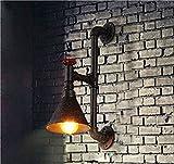 Avanthika E27 Créatif Rétro Applique Murale Intérieur Vintage Lampe Murale Industriel Lampe de Mur Fer à Repasser Art Déco Feng Shui industriel rétro éclairage mural Salle à manger Salon Chambre à coucher Bed Cafe Bar est décoré d'Art Fer