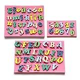 3 x Moule Lettres Chiffres Alphabet silicone pour pâte à sucre gateau décoration