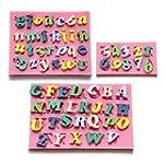 3 x Moule Lettres Chiffres Alphabet s...