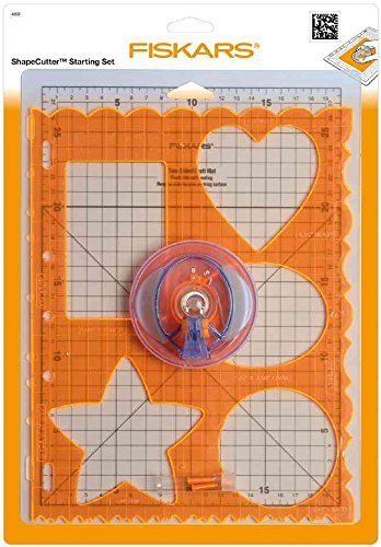 fiskars-4808-shapecutter-set-de-demarrage-avec-tapis-a4-gabarit-formes-2-lames-orange