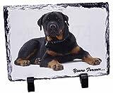 Rotweiler Dog 'Yours Forever'Weihnachtsgeschenk, Tier-Foto auf Schieferplatte