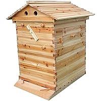 ZJIE Maison En Bois Automatique De Récolte de Miel Ruche Pour L'équipement D'apiculture De 7 Structures De Flux, Approprié Aux Débutants Et Aux Apiculteurs Expérimentés