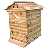 ZJIE Automatisches Hölzernes Bienenstock-Haus Für 7 Strömungs-Rahmen Imkerei-Ausrüstung, Verwendbar Für Anfänger U. Erfahrene Imker