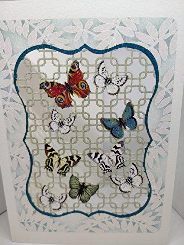 Lattice Window et papillons Forever fait à la main Cartes de découpe laser présentée par Sterling Effectz