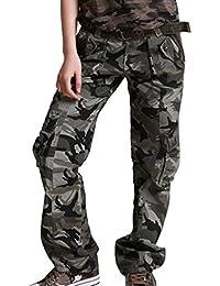 Tangda-Pantalon Camouflage Coton Armée Militaire Camo Jogging Femme Décontracté Loisir Travail Avec Ceinture Taille 34-40 Couleur de ceinture au hasard