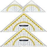 4er Set Geodreiecke 2x groß und 2x normal